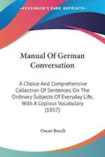 Manual Of German Conversation