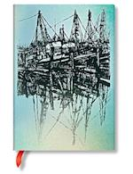 Boats and Reflections Midi Unlined Notebook af Hartely and Marks