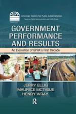 Government Performance and Results (Aspa Series in Public Administration and Public Policy)