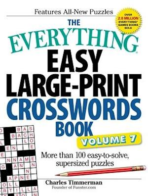 Bog, paperback The Everything Easy Large-print Crosswords Book af charles Timmerman