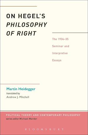 Bog hæftet On Hegel's Philosophy of Right af Martin Heidegger