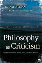 Philosophy as Criticism