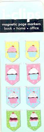 Cupcakes I-clips Magnetic Page Markers