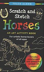 Scratch and Sketch Horses
