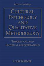 Cultural Psychology and Qualitative Methodology af Carl Ratner
