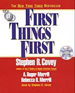 First Things First af Stephen R. Covey