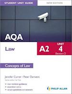 AQA A2 Law Student Unit Guide New Edition: Unit 4 (Section C) Concepts of Law (AQA A2 Law)