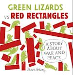 Green Lizards vs Red Rectangles af Steve Antony