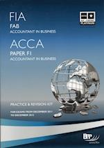 FIA Foundations of Accounting in Business - FAB -Kit