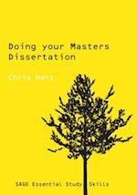 Doing Your Masters Dissertation (Sage Study Skills Series)