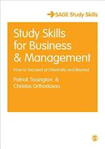 Study Skills for Business and Management (Sage Study Skills Series)