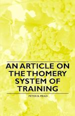 An Article on the Thomery System of Training