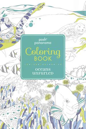 Posh Panorama Adult Coloring Book