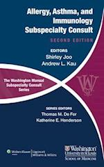 The Washington Manual of Allergy, Asthma, and Immunology Subspecialty Consult (Washington Manual Subspecialty Consult Series, nr. 174)