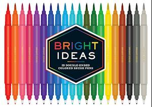 Bog, hardback Bright Ideas Double-Ended Colored Brush Pens af Chronicle Books