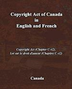 Copyright Act of Canada in English and French