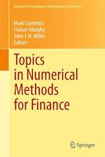 Topics in Numerical Methods for Finance (Springer Proceedings in Mathematics and Statistics, nr. 19)