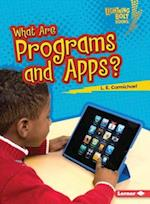 What Are Programs and Apps? (Lightning Bolt Books)