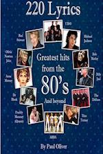 220 Lyrics from the Eighties.