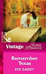 Remember Texas (Mills & Boon Vintage Superromance) af Eve Gaddy