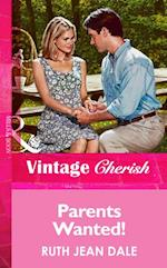 Parents Wanted! (Mills & Boon Vintage Cherish)