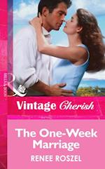 One-Week Marriage (Mills & Boon Vintage Cherish) af Renee Roszel