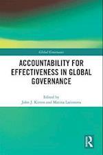 Accountability for Effectiveness in Global Governance (Global Governance)