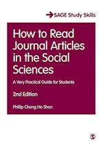 How to Read Journal Articles in the Social Sciences (Sage Study Skills Series)