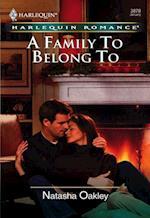 Family To Belong To (Mills & Boon Cherish)