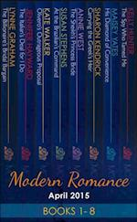 Modern Romance April 2015 Books 1-8: The Billionaire's Bridal Bargain / The Italian's Deal for I Do / At the Brazilian's Command / The Sheikh's Princess Bride / His Diamond of Convenience / Carrying the Greek's Heir / Olivero's Outrageous Proposal / The Spy Who... (Mills & Boon e-Book Collections) af Susan Stephens