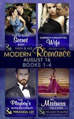 Modern Romance August 2016 Books 1-4