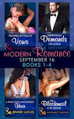 Modern Romance September 2016 Books 1-4