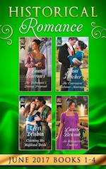 Historical Romance June 2017 Books 1 - 4: The Debutante's Daring Proposal / The Convenient Felstone Marriage / An Unexpected Countess / Claiming His Highland Bride (Mills & Boon e-Book Collections) af Annie Burrows, Laurie Benson, Terri Brisbin