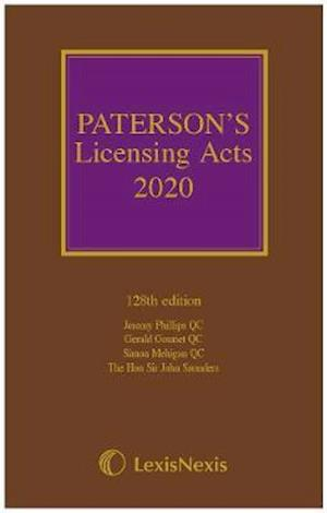 Paterson's Licensing Acts 2020