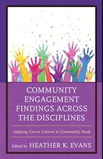 Community Engagement Findings Across the Disciplines