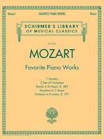 Favorite Piano Works af Wolfgang Amadeus Mozart