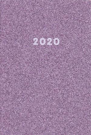 Purple Glitter 2020 Leatherette Planner