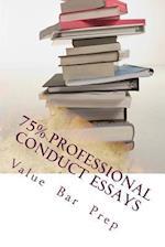 75% Professional Conduct Essays