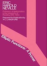 Elliptic Functions af Eric Harold Neville