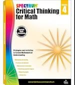 Spectrum Critical Thinking for Math, Grade 4 (Spectrum)