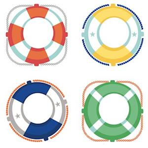 Bog, ukendt format S.S. Discover Life Preservers Cut-Outs