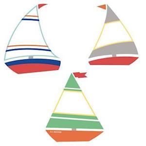 Bog, ukendt format S.S. Discover Sailboats Mini Cut-Outs