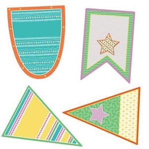 Bog, ukendt format Up and Away Pennants Cut-Outs