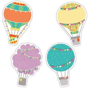 Bog, ukendt format Up and Away Hot Air Balloons Cut-Outs
