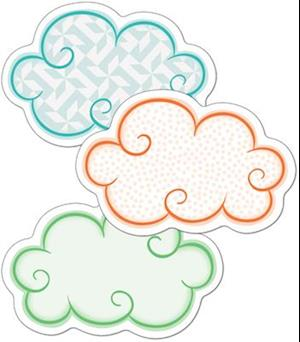Bog, ukendt format Up and Away Clouds Mini Cut-Outs