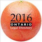 Ontario Legal Directory 2016 (Ontario Legal Directory)
