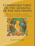 Condensed Topic on the Meaning of the Doctrines af Jampa Kunchog Pryor