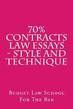70% Contracts Law Essays - Style and Technique