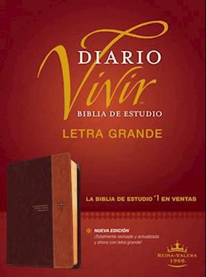 Biblia de Estudio del Diario Vivir Rvr60, Letra Grande (Letra Roja, Sentipiel, Café/Café Claro, Índice)