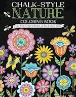 Chalk-Style Nature Coloring Book (Chalk Style)
